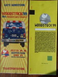 Pair of MINT condition Woodstock '99 concert tickets ~ http://www.ebay.com/usr/hipster_approved