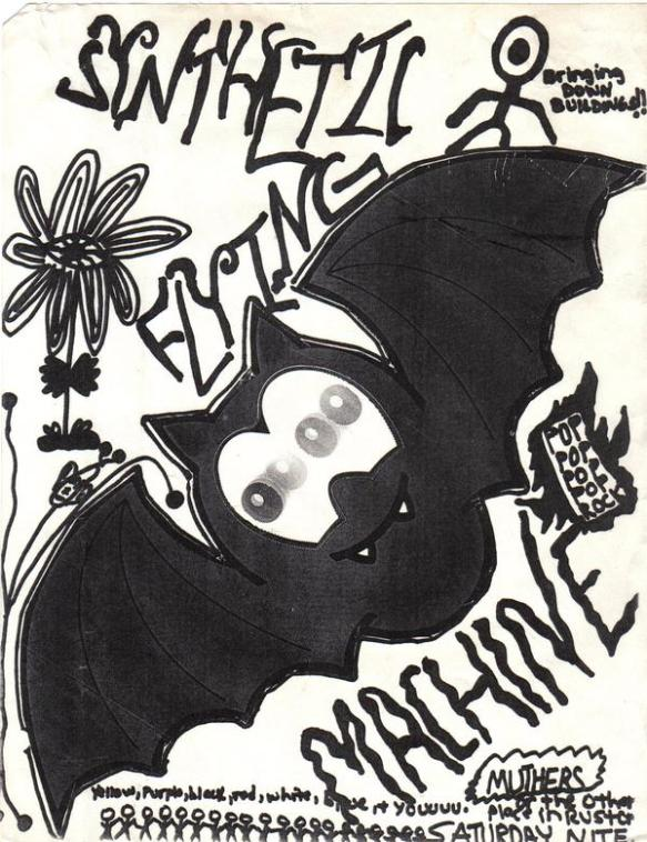 Synthetic Flying Machine flyer, early 90s. Ruston, LA.