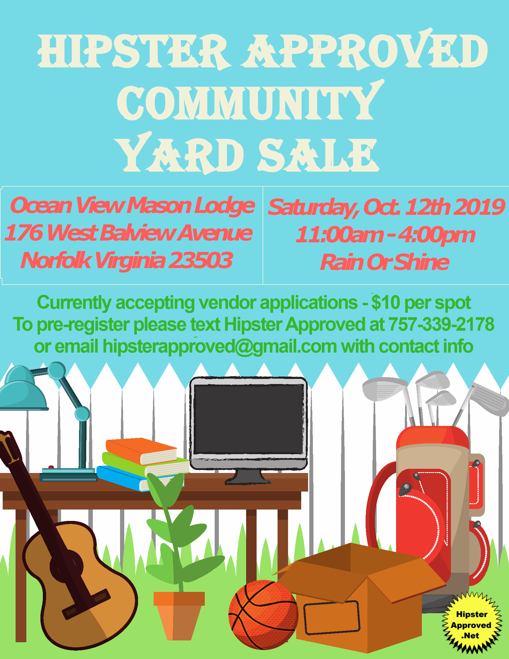 Hipster Approved Community Yard Sale
